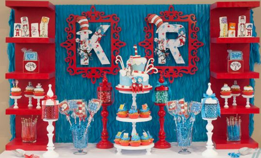 Thing 1 And Thing 2 Birthday Party Supplies Decoration Decor Ideas