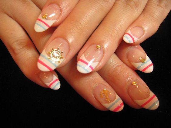Marine summer nail