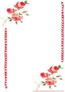 paginas decoradas para imprimir marcos y fondos de