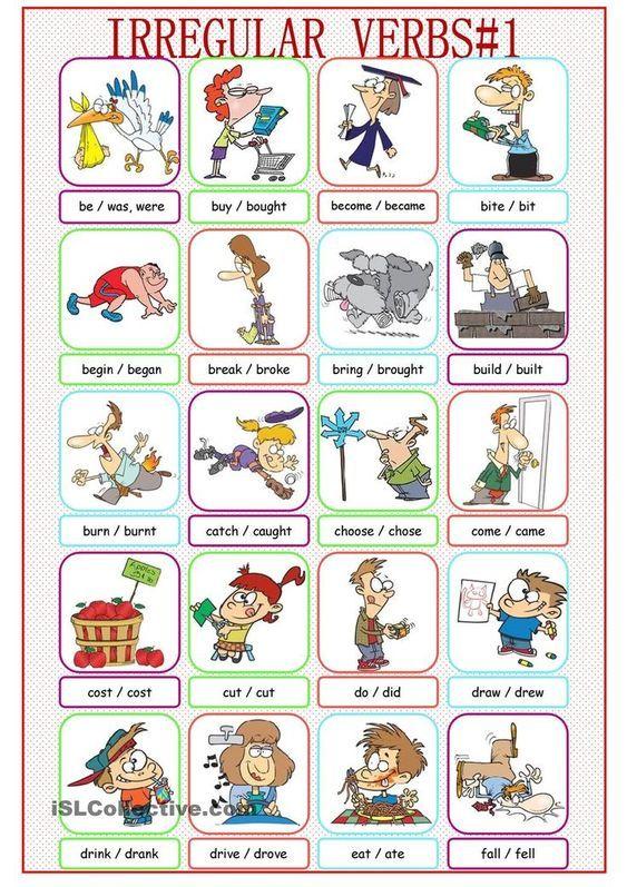 Die Irregularen Unregelmassigen Englischen Verben Englische Verben Englisch Lernen Englisch Lernen Kinder