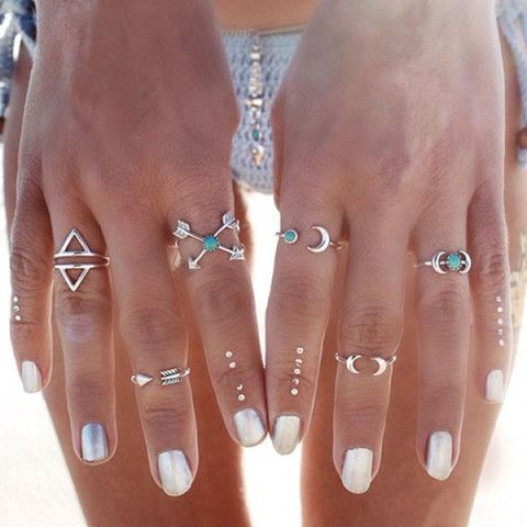 Turquoise Triangle Rings