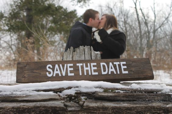 Save The Date Sign.  Date Sign.  Engagement by ScaleAndTailor