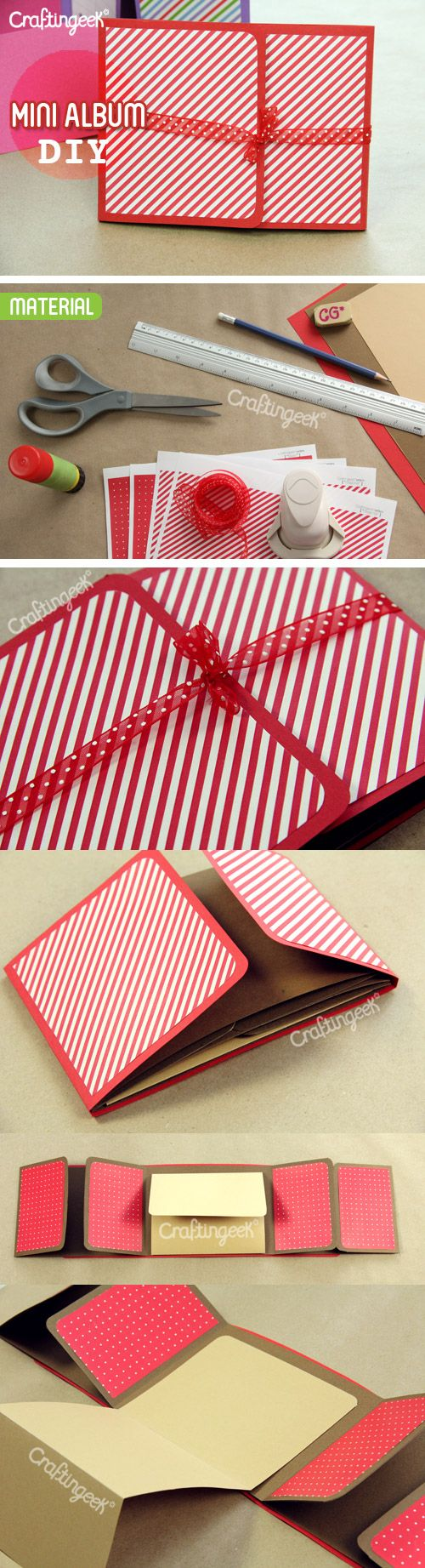 Scrapbook ideas tutorial - Mini Scrapbook Album Tutorial In Spanish I Love This Idea For A Sleep Over Project Or Something To Make A One Time Event Special