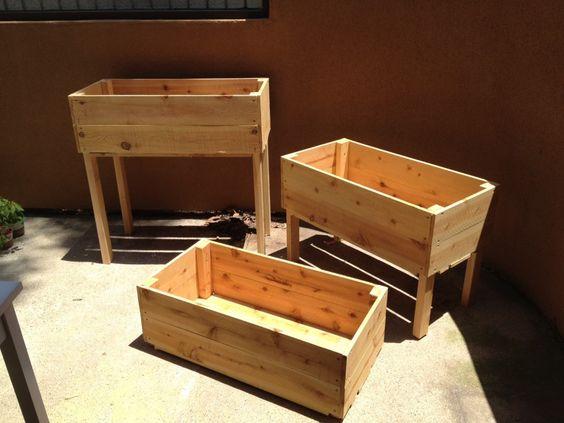 DIY 3 tier planter boxes