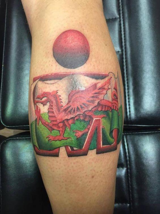 Ironman triathlon tribal tattoo