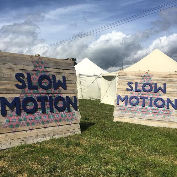 We're so excited about our brand new wellbeing area Slow Motion we named it twice. #CampBestival #SlowMotion #bestivalisbuilding: