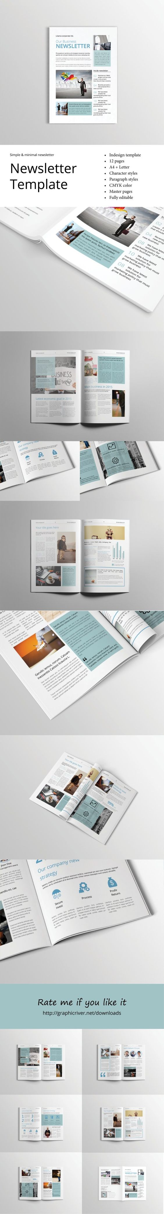free indesign newsletter templates - pinterest the world s catalog of ideas