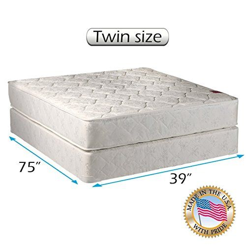 Dream Sleep Legacy Gentle Firm Two Sided Mattress Set With Bed Frame Included Spine Support Good For Your Back Orthopedic Type Long Lasting Comfo Spring Set