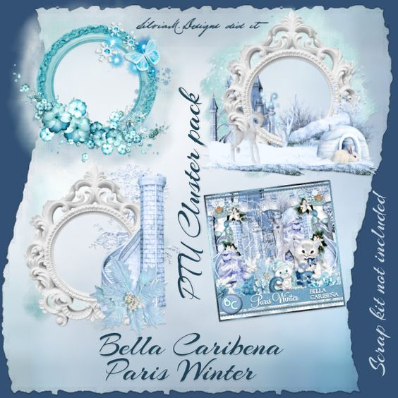 Paris Winter Cluster 2 (PU_TS) : Scrap and Tubes Store, Digital Scrapbooking Supplies