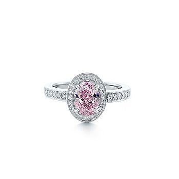 Tiffany Platinum Fancy Vivid Pink Diamond Rings