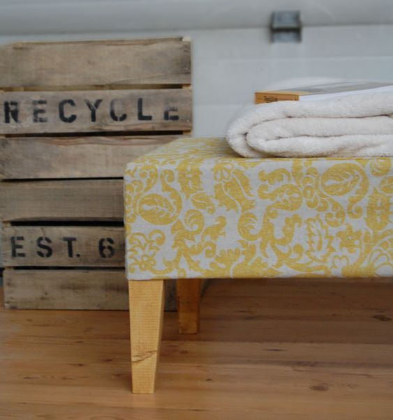 The easiest upholstered bench