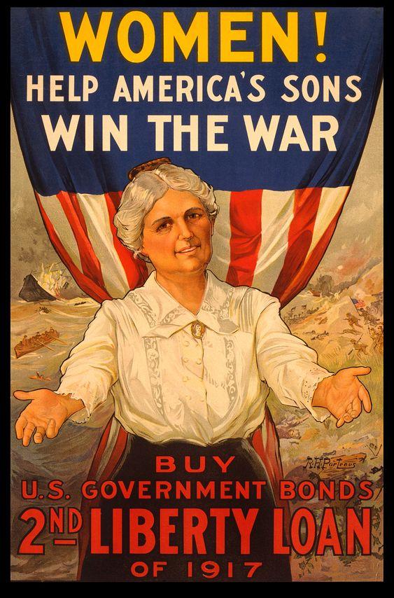 Women! Help America's Sons Win the War. Buy U.S. Government Bonds