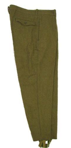 Soviet Era Romanian Army Wool Trousers Communist Pants Military Khaki stirrups…