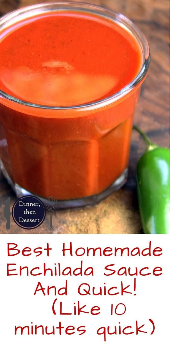 Ditch the can, feel like you're at your favorite Mexican restaurant in ten minutes! Homemade Enchilada sauce that is so good you'll top it on everything, even your eggs!