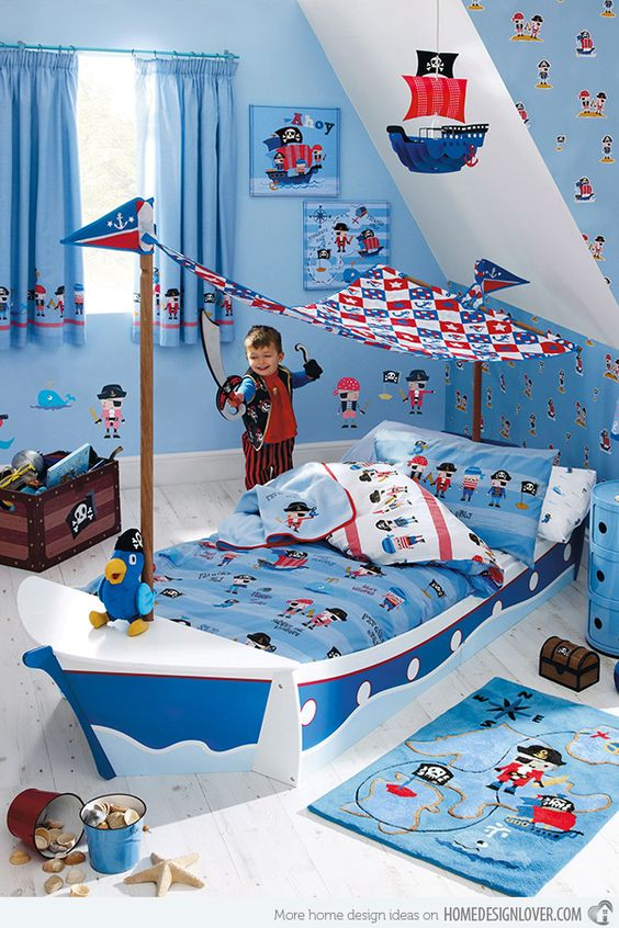 15 Transportation Themed Toddler Beds Boys Pirate Ship