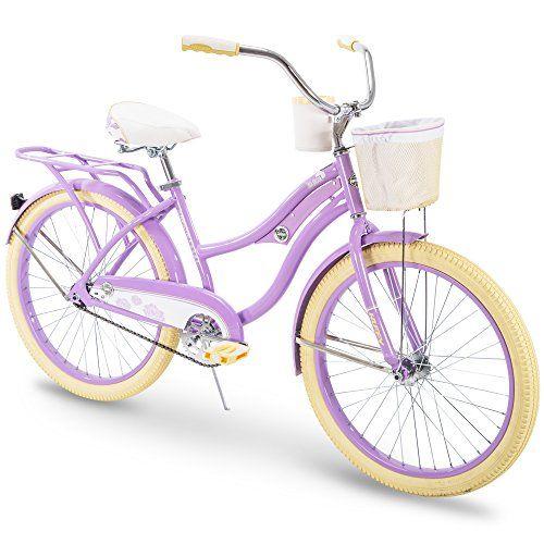 Huffy 24 Holbrook Women S Beach Cruiser Bike W Cup Holder Handlebar Basket Rear Rack Cruiser Bike Beach Cruiser Bikes Women Beach Cruiser Bike