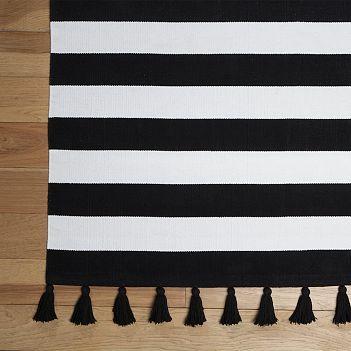 Black & White Stripe Mat