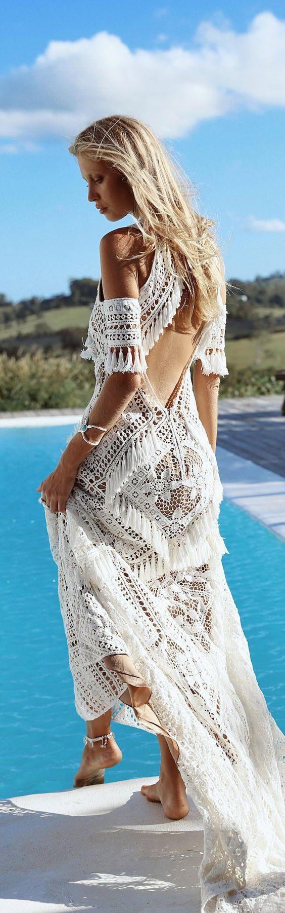 Bohemian wedding dress #weloveboho#boho#bohemian#gypsy#freespirit#fashion#wedding