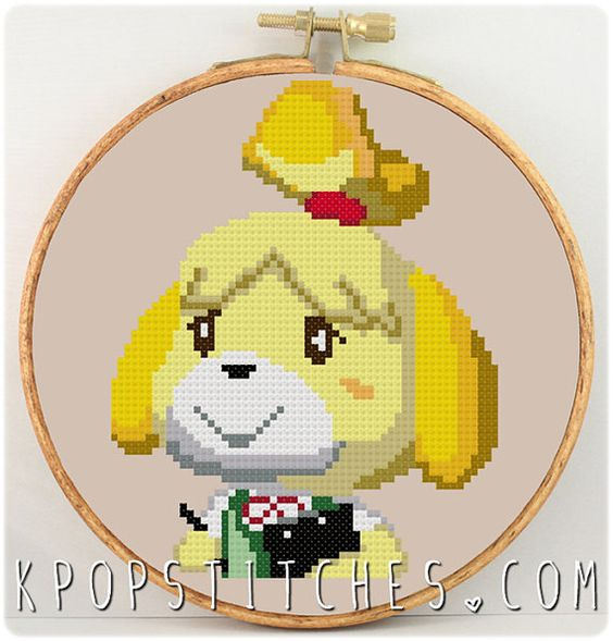 Animal crossing cross stitch and stitches on pinterest