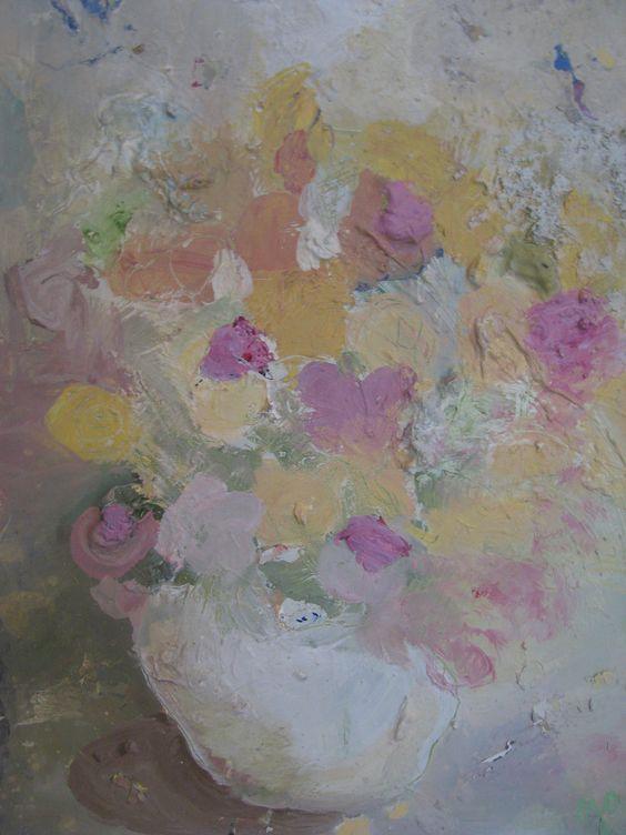 """""""Blooms"""". Oil on masonite. 2012. Janika Turu"""