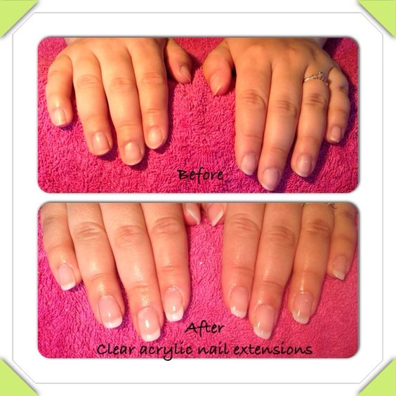 Nail Extensions Gel: Clear Acrylic Nails, Clear Acrylic And Acrylic Nails On