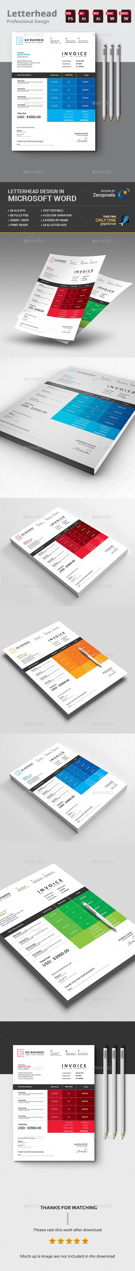 corporate invoice design template - proposals & invoices, Invoice examples