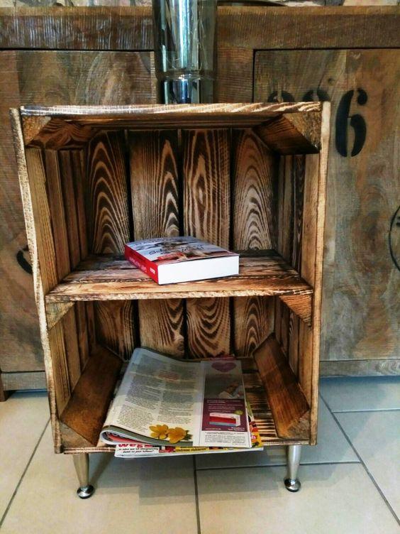 Nachttisch Badschrank Badregalnachtschrank Holzkiste Mit Einlegeboden Beistelltisch Aus Holz Holzregal Regal Schlafzimmermobel Apfelkiste Beistelltisch Holz Nachttisch Selber Bauen Holzkisten