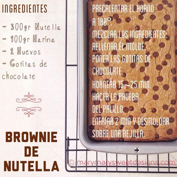 Delicioso Brownie de Nutella - Mary Mary Sweet Designs