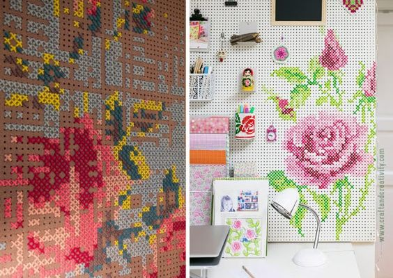 Pegboard - Organizar e decorar com painel perfurado