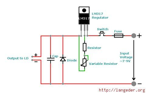 How To Make A Laser Diode Driver That Enables You To Burn Paper Diode Electronic Schematics Laser