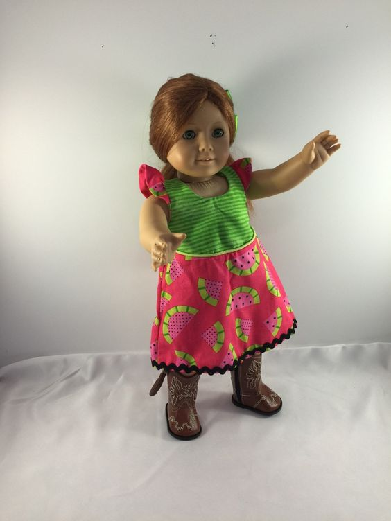 American Girl Clothes, 18 Inch Doll Clothes, Custom Doll Clothes, American Girl Dress, Doll Clothes, 18 Inch Dolls, American Girl Outfit by SweetpeasBowsNmore on Etsy