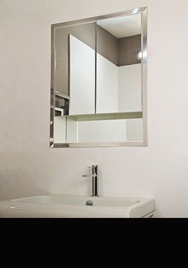 Inset Bathroom Cabinets Recessed