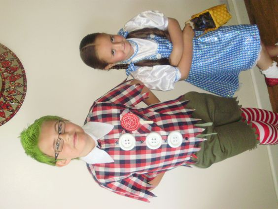 Dorothy and a Munchkin.
