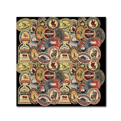 """Trademark Art """"Guinness IX"""" by Guinness Brewery Vintage Advertisement on Wrapped Canvas Size:"""