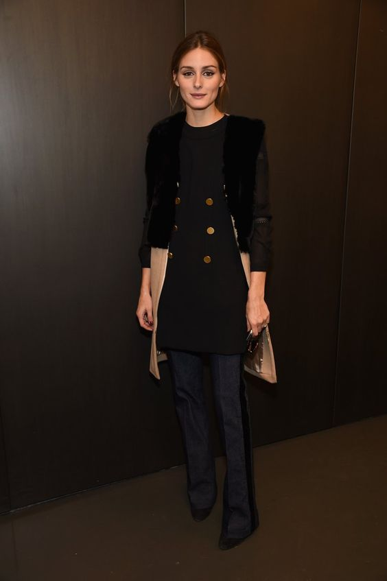 Pin for Later: The Best Part of Fashion Month Was Obviously Olivia Palermo  Always ahead of the trend, Olivia rocked flared jeans while attending the Rachel Zoe presentation.
