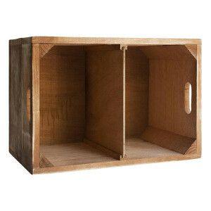 Caisse de rangement avec séparateur intérieur amovible  bois, marron clair  50 x…
