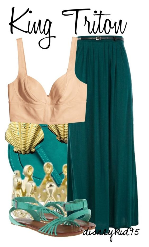 King Triton by disneykid95 on Polyvore featuring polyvore, fashion, style, H&M, River Island, Volcom, ASOS and clothing