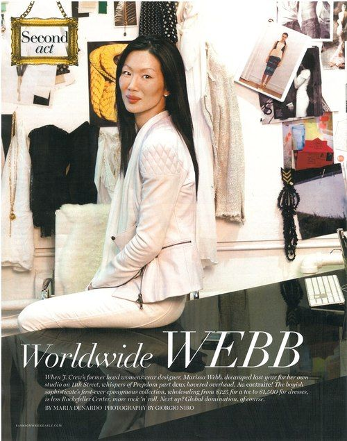 thank you the daily front row for the lovely article. sp13 marissa webb label, white + white