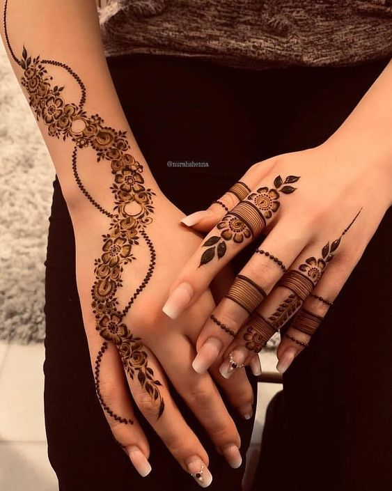How To Make A Henna Tattoo Look Better And Last Longer Mehndi Designs For Fingers Finger Henna Designs New Mehndi Designs