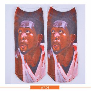 3D Print sock famous star people cotton Polyester Contrast women Socks