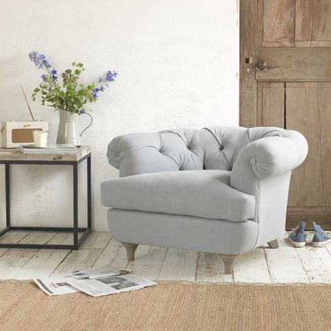 SWAGGAMUFFIN CHAIR. There's been so much love for our Bagsie loveseat we decided to create a smaller sister in a similar mould. She's got a lower back but the squidge factor is still as high. #occasionalchair #livingroom