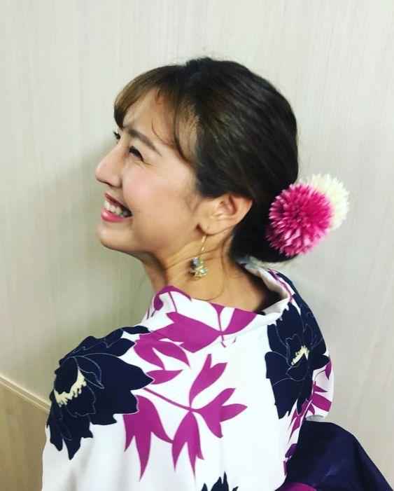 満面の笑顔の小澤陽子