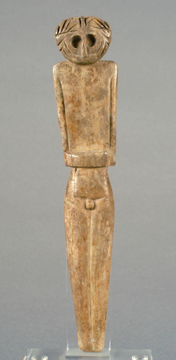 Ídolo de Los Millares en hueso. Calcolítico, 3000-2100 a. C.: