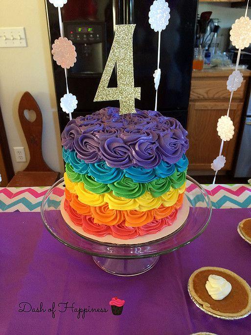 Dash of Happiness rainbow swirl cake