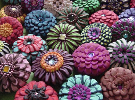 Polymer clay drawer pulls