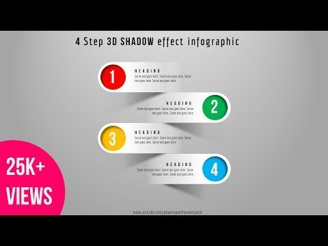 41 Create 4 Step 3d Shadow Effect Infographic Powerpoint Presentation Graphic Design Infographic Powerpoint Powerpoint Presentation Design Powerpoint Tutorial