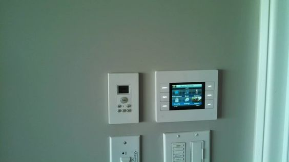 Control with intercom and lights