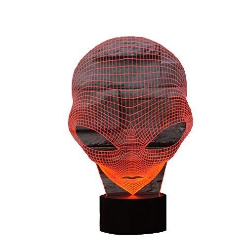 3d Lamp Usb Power 7 Couleurs Incroyable Illusion Optique 3d Grow Led Lamp Alien Shapes Kids Bedroom Night Light Illusion Optique Illusion Alien