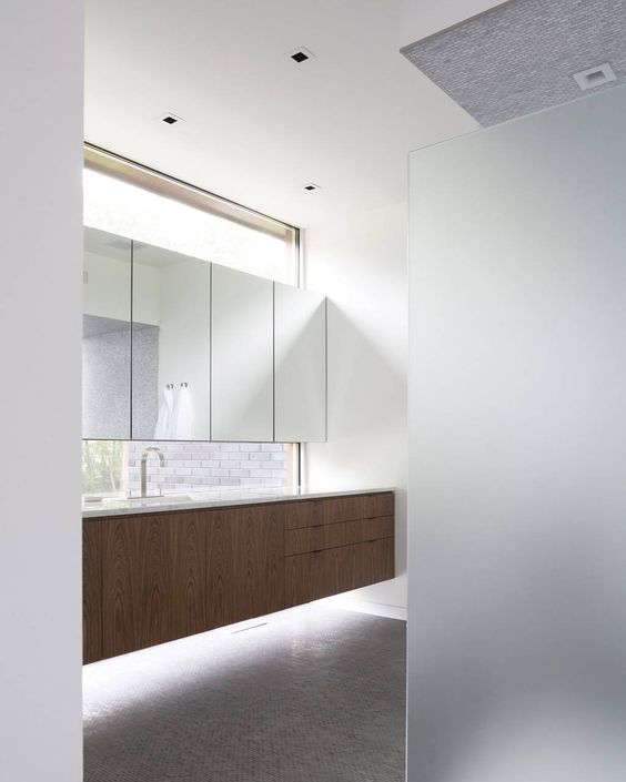 Love the natural light at the vanity