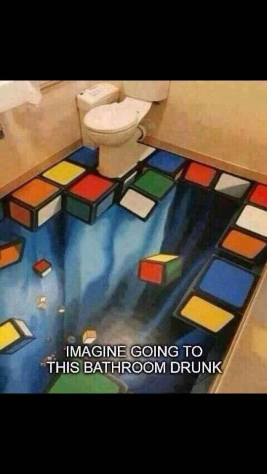 Je zult idd maar dronken zijn, en naar dit toilet gaan........